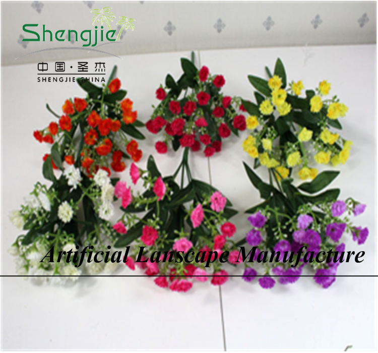 Guangzhou SJYBH026 wholesale artificial silk wild flowers wedding bouquets fake lilac for home/wedding decoration