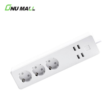 New Arrivals 2018 3 EU Outlets 4 USB Ports WIFI Smart Power Strip Plug