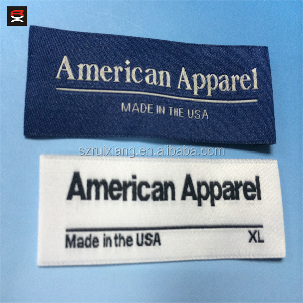 American Apparel Size Woven Label - Buy Woven Labels,Size Woven ...