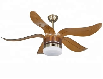 52 Inch South East Tropical Style Low Profile Decorative Ceiling Fan With Light Abs Blades