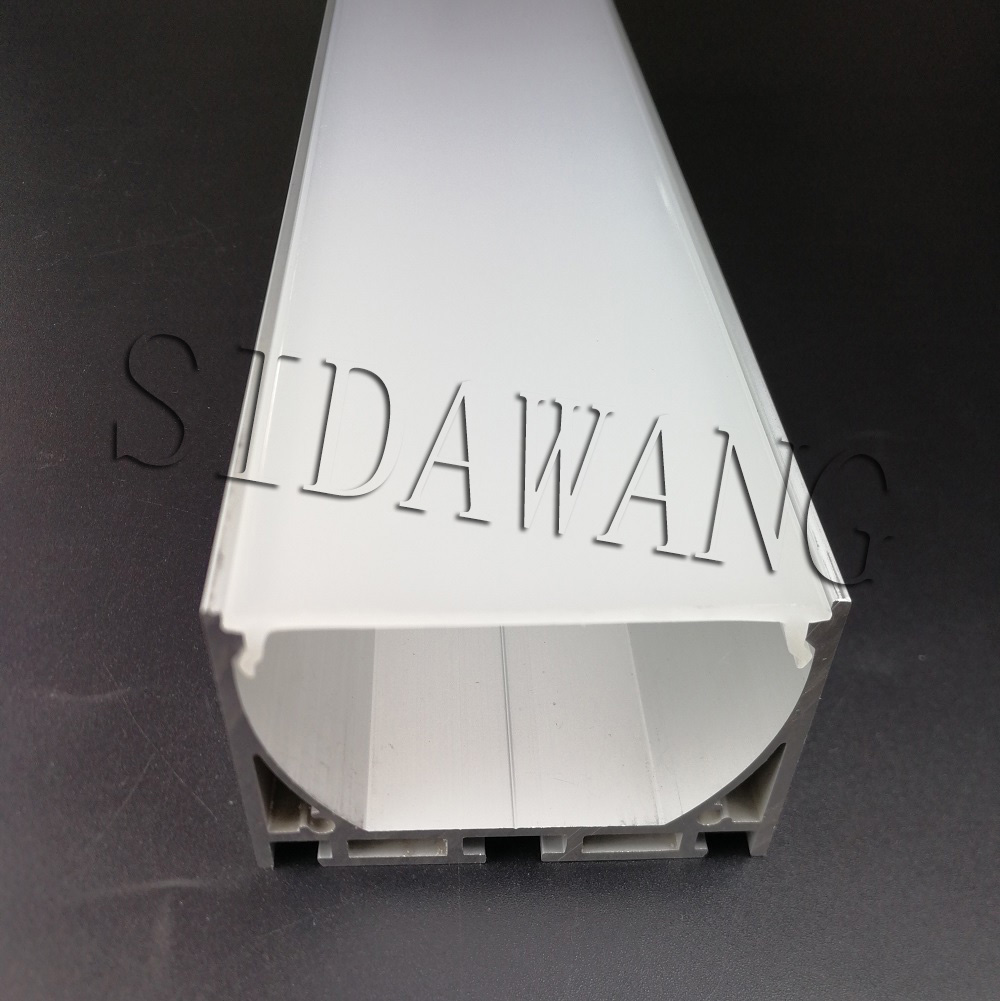 High Power Silver color Aluminum led strip profile extrusion for 28mm wide pendant lighting