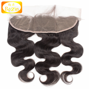 Large Stock Indian Hair Ear To Ear Lace Frontal Body Wave Bleached Knots Swiss Lace Wholesale Hair Frontal