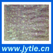 100% Poly Mesh with 5mm Rainbow Sequins Embroidery Fabric
