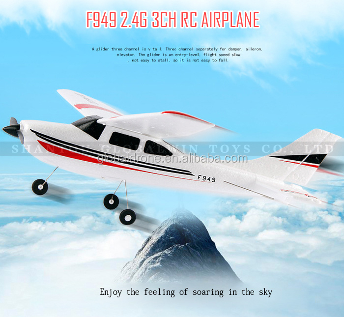 Wltoys F949 rc airplane Cessna-182 2.4G remote control toys 3CH Fixed Wing Plane Electric flying Aircraft RTF beyond F939 F929