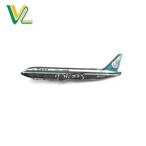 Custom made Professional Brass Die struck poly paint Nickel Airplane OEM Tie Clip Manufacturer