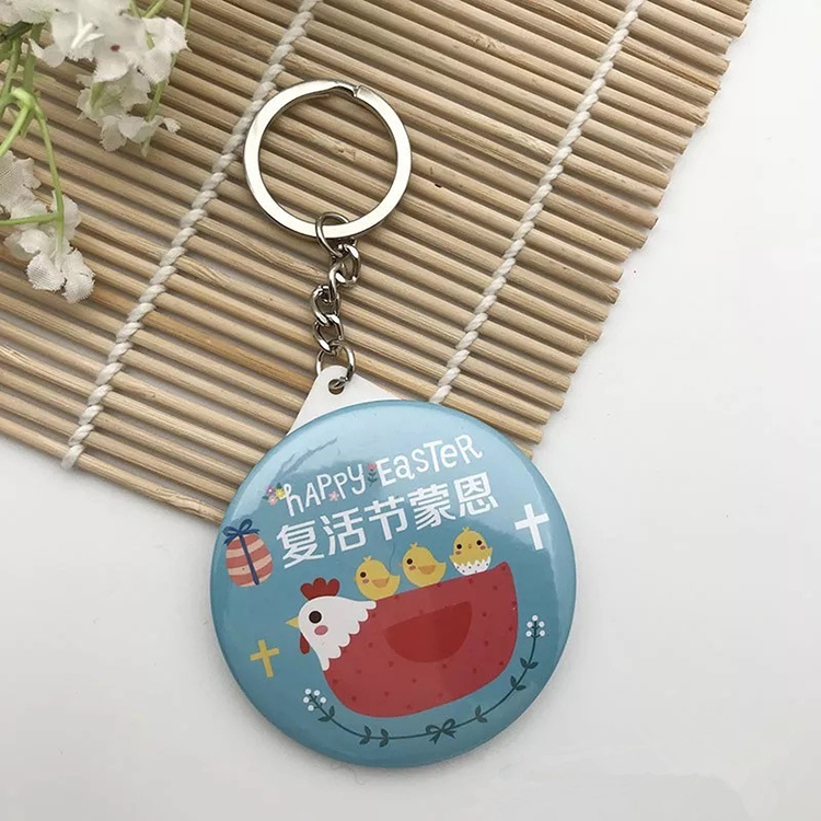 Creative Alphabet Explosion Models Compact Cute Multi-color Small Mirror Keychain