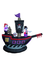 210cm/7ft inflatable Skeleton ghost pirate ship for Halloween decoration