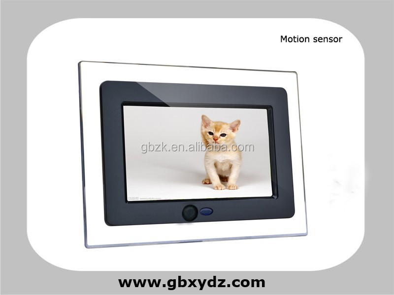 motion sensor activated lcd monitor usb video media player for advertising on store/shop/supermarket