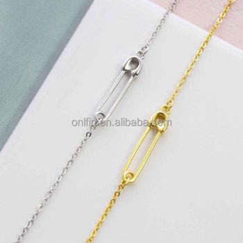 925 Silber Sicherheitsnadel Halskette Sicherheitsnadel Schmuck Sicherheit Pin Charme Buy Silber Sicherheit Pin Halskette,Sicherheit Pin