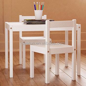 Kinder Tisch Und Stühle Set Weiß Holz Kinder Set Mit Einem Tisch Und ...