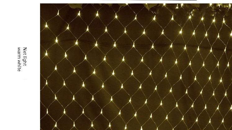 8m10m 2600leds large outdoor christmas light led fishing net lights for landscape decoration - Led Net Christmas Lights