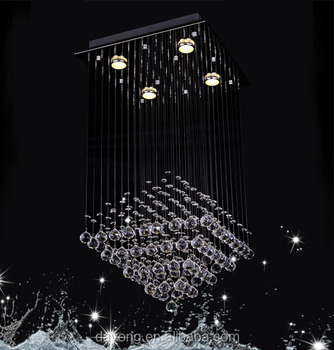 Dy13013 rectangular crystal led chandelier special effects dy13013 rectangular crystal led chandelier special effects lighting mozeypictures Images