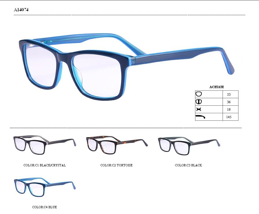 color de moda de diseño de acetato de óptica montura de gafas gafas ...