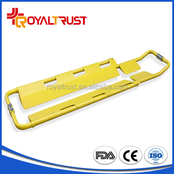 Hot Sale plastic spencer-like scoop foldable x-ray stretcher