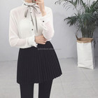 Latest energetic ladies fancy chiffon women work shirt white wholesale blouses