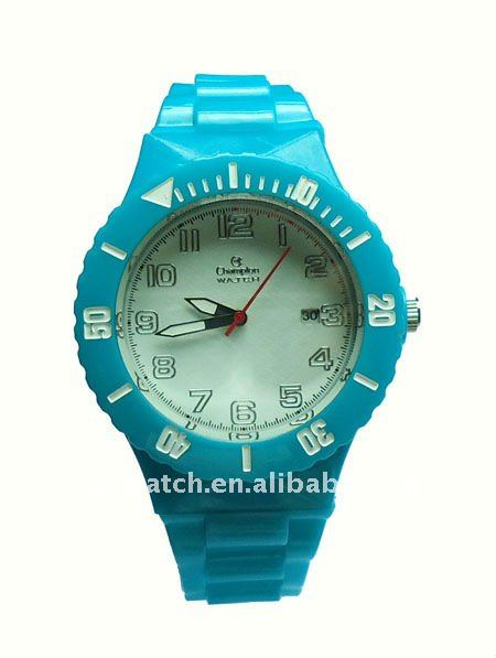 Blue 3ATM waterproof sport watches changeable structure