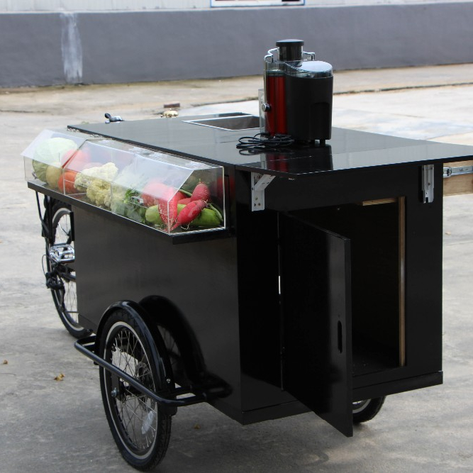 Cargo Use For three wheel bike front loading cargo tricycle with cabin food truck