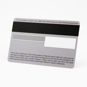 Credit Card Size PVC Magnetic Stripe Card With Embossed Numbering and Signature Panel