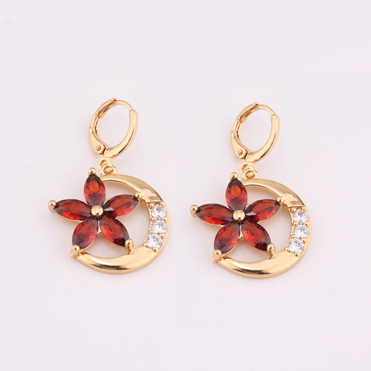 Beautiful Flower New 2017 Latest Gold Earring Designs With Price Design Earrings