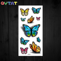 OEM High Quality Ink Waterproof Colourful Butterflies Cute Temporary Tattoo Sticker 3d Tattoos