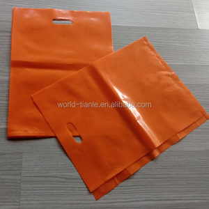 No Gusset Customized 2.0 Mil Durable Plastic Die Cut Handle Bag
