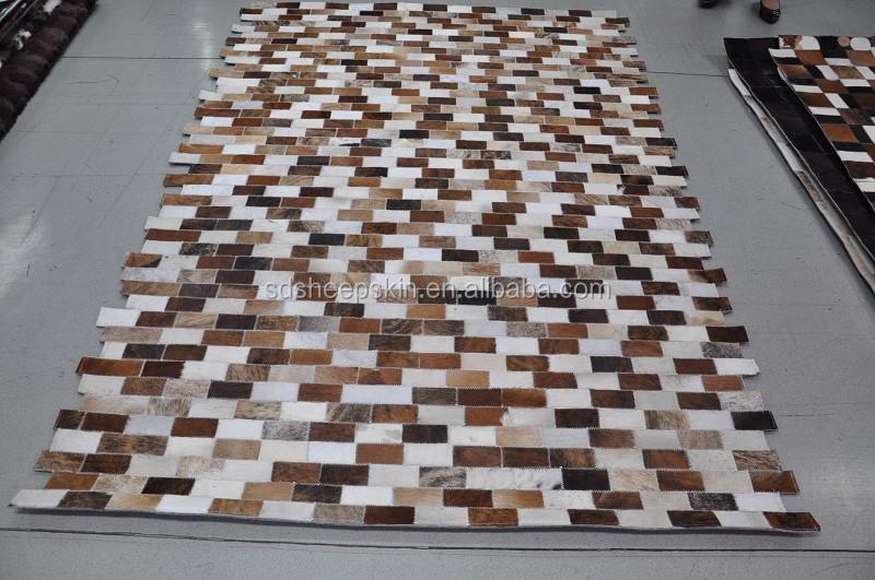 Patchwork Cowhide Rug Cow Skin Carpet Zebra Rug