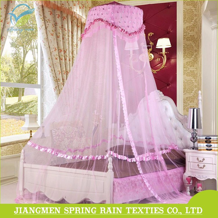 Hot sale pink princess circular mosquito net bed canopy