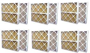 6 Pack High Quality Genuine MERV 11 Home Air Pleated Furnace Filters 20x25x4