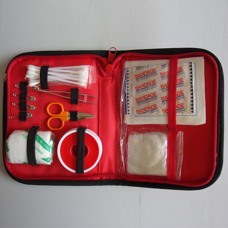 CE aprobado médicos personalizados supervivencia kit de primeros auxilios con suministros mini hotel de emergencia de coche de primera ayuda bolsas bolsa de la herida conjunto