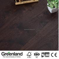 2-ply Antique Burnt Brushed Wide Plank Engineered OAK Wood Flooring for Meetingroom