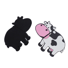 cartoon cow usb flash drive 128gb usb 2.0 memory stick for kids present with keychain