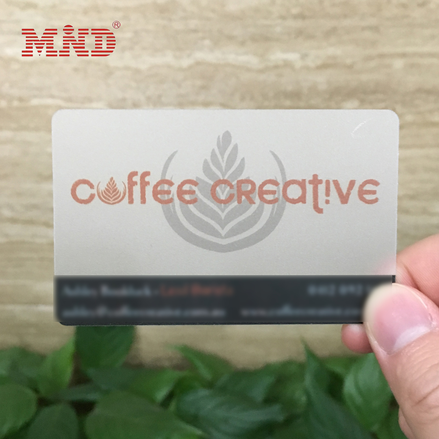 HQ clear transparent Matt frosted plastic business card