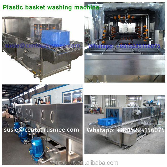 CE ROHS certification automatic plastic crate tray pallet plate basket washing machine with best price