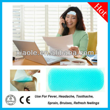 2017 hot selling product! Chinese Medische Verminderen Koorts effecttively hoofdpijn cooling patch