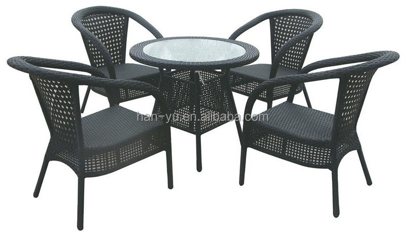 product detail hot sell outdoor patio rattan furniture wicker restaurant table chairs