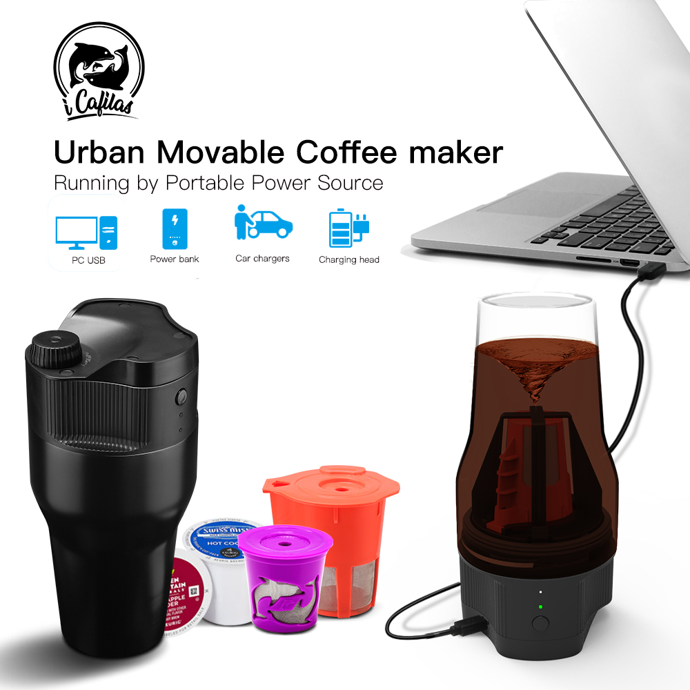 Travel Reusable K Cup Camping Outdoor Drip Strong Coffee Maker