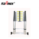 3.8M(15.5FT) aluminum telescopic ladder with heavy duty 150kgs