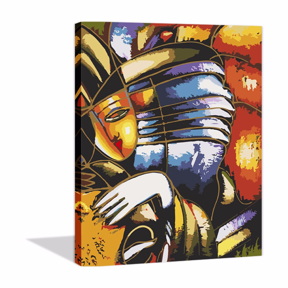Modern Hand Painted Canvas Oil Painting Printed DIY Picasso Abstract By Numbers