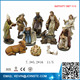 Ceramic nativity set,nativity set figurines,white nativity set