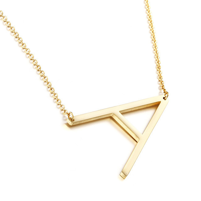 Buy cheap china letter necklace pendant products find china letter fashion letter necklaces pendants alfabet initial necklace gold colorstainless steel choker necklace women jewelry kolye collier mozeypictures Images