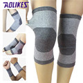 Brand Grey Cotton Kneepad Unisex Outdoor Sports Kneepad 4 Way Stretch Basketball Football Warmth Knee Guard