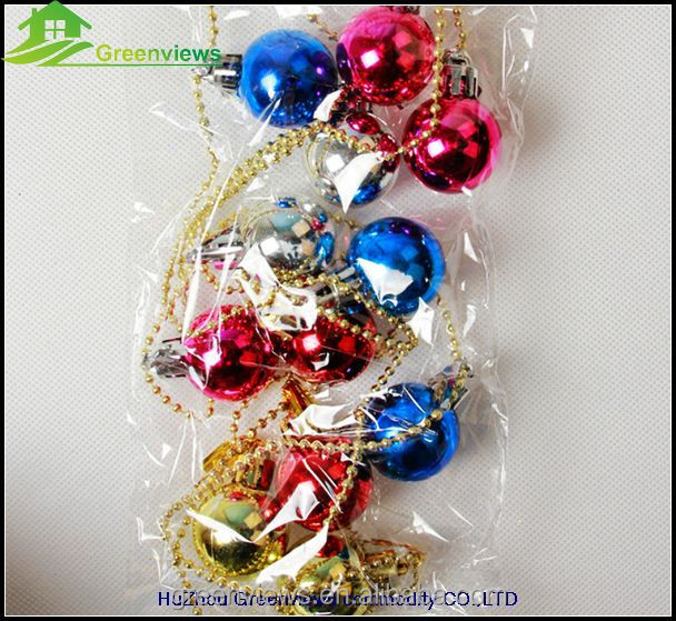 Ball string christmas decoration and gift factory 3CM christmas multicolor ball