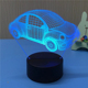 Car Beetle model 3D LED night light desk table 7 colors changeable lamp for home gift