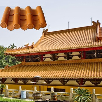 225x220x11 5mm Natural Chinese Temple Roof Tile Edging Ml