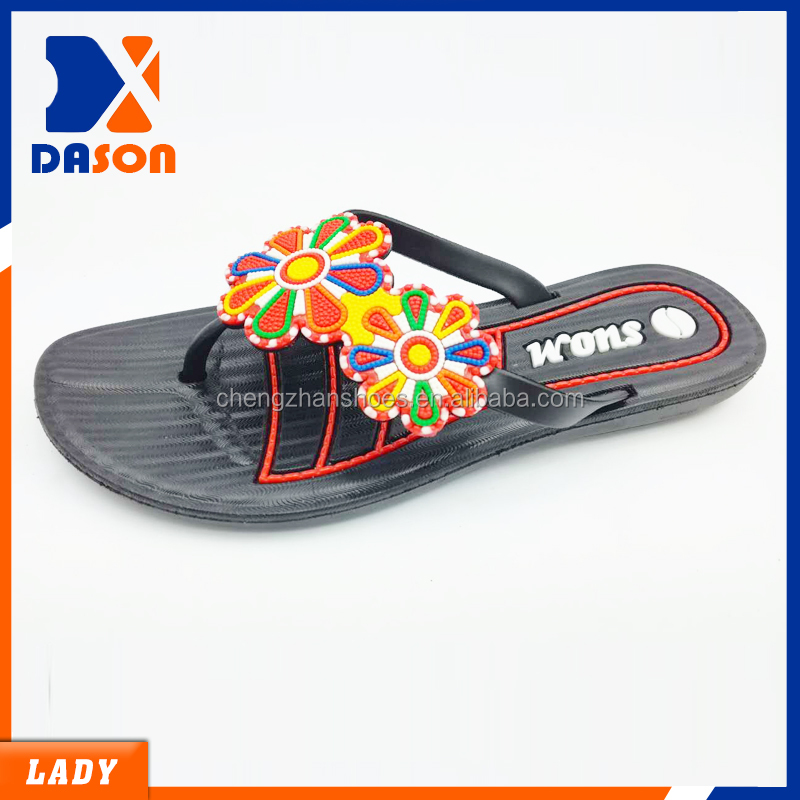 hot sell women plastic slippers made in china