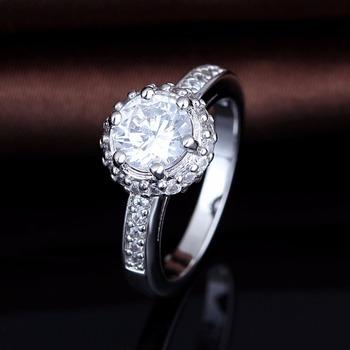 Amazing Beauty Clear Stone Round Design Plain Wedding Rings Buy