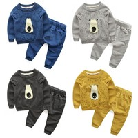 New Design Children Autumn Clothes Kids Boys Clothing Sets For Child Wear