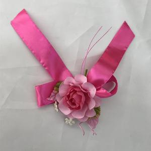 high quality fabric artificial silk rose flower head