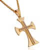 Personalized Gold Necklace Men Stainless Steel Laser Welding Cross Pave Diamond Pendant