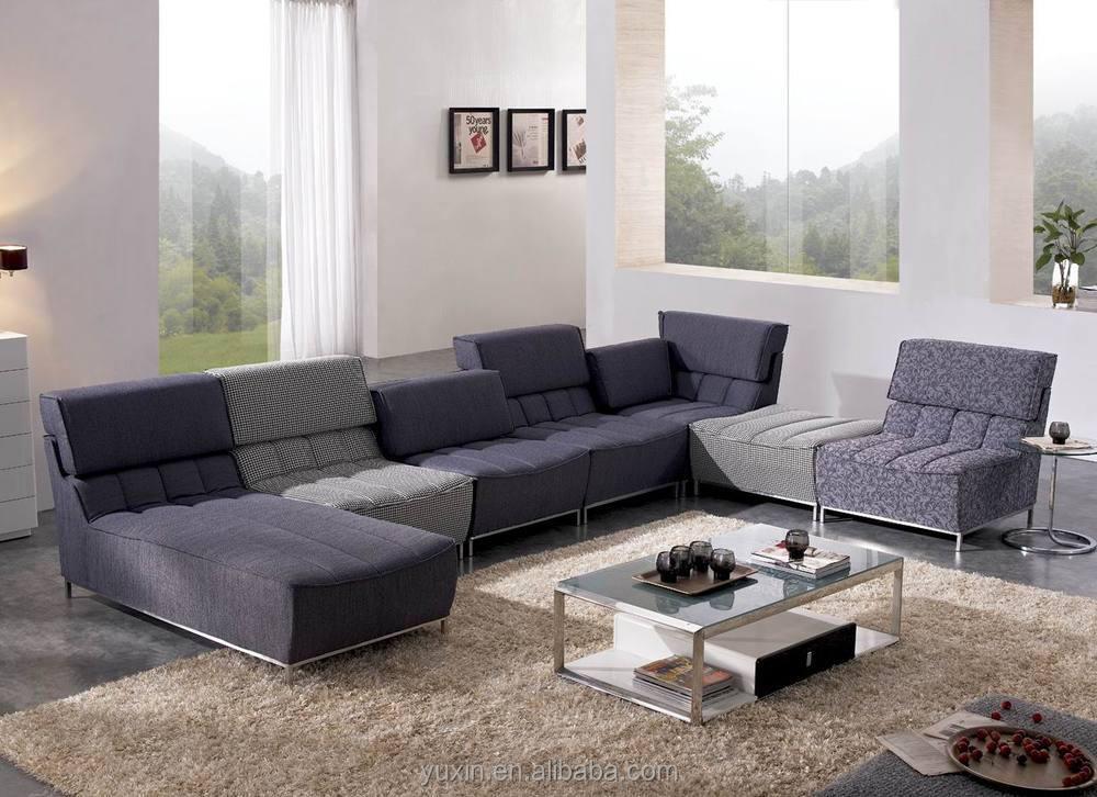 New Arrival Modern Living Room Wooden Furniture/corner Sofa Set ...